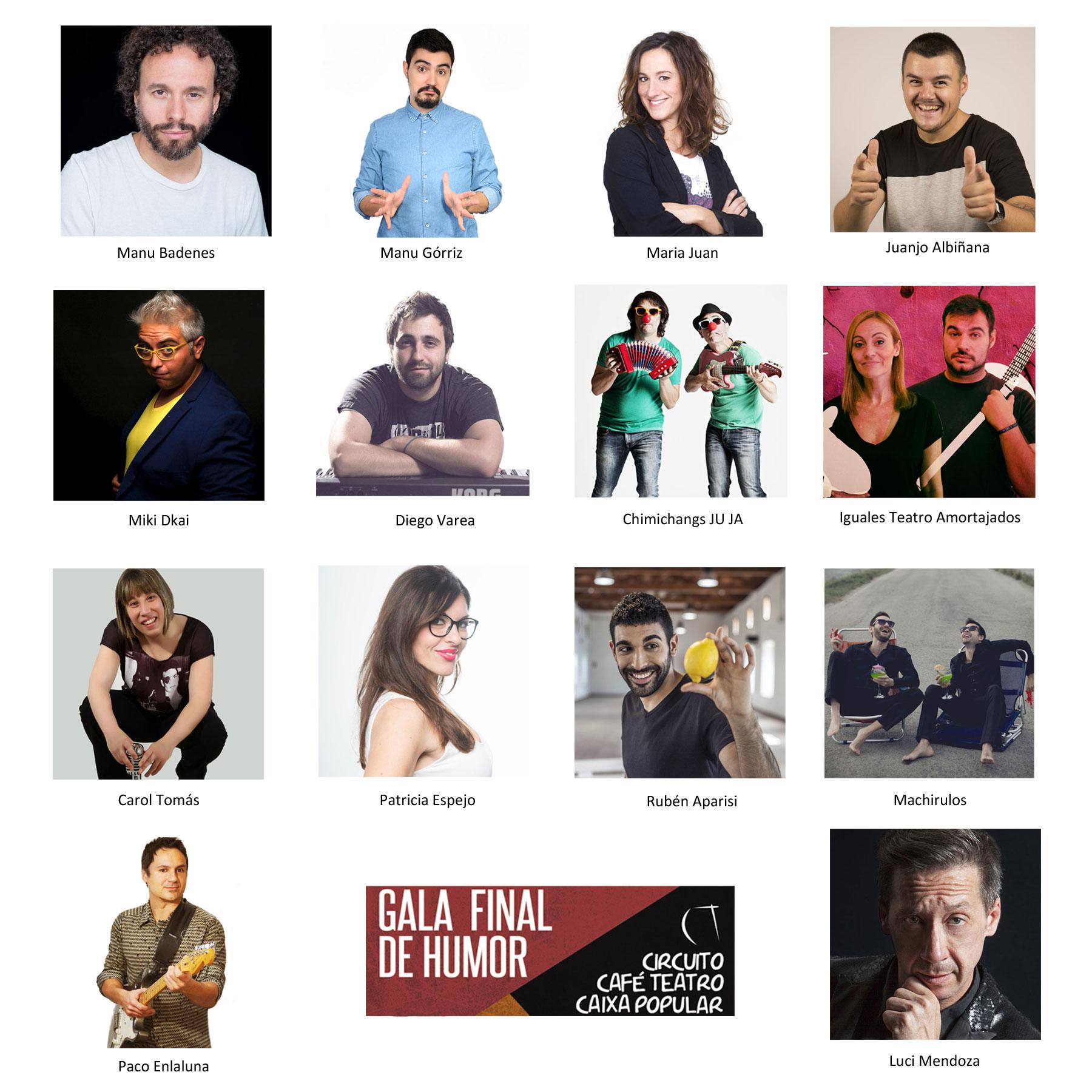 GALA FINAL DE HUMOR DEL CIRCUITO CAFÉ TEATRO CAIXA POPULAR