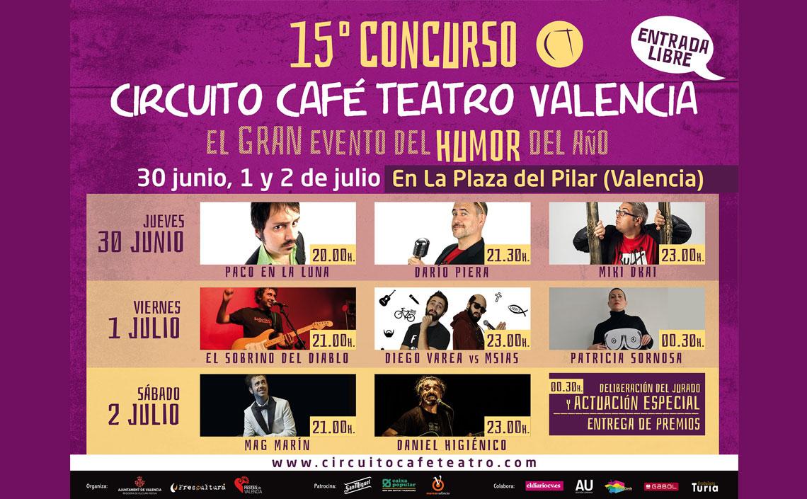 El evento del humor del año: XV Concurso Circuito Café Teatro.