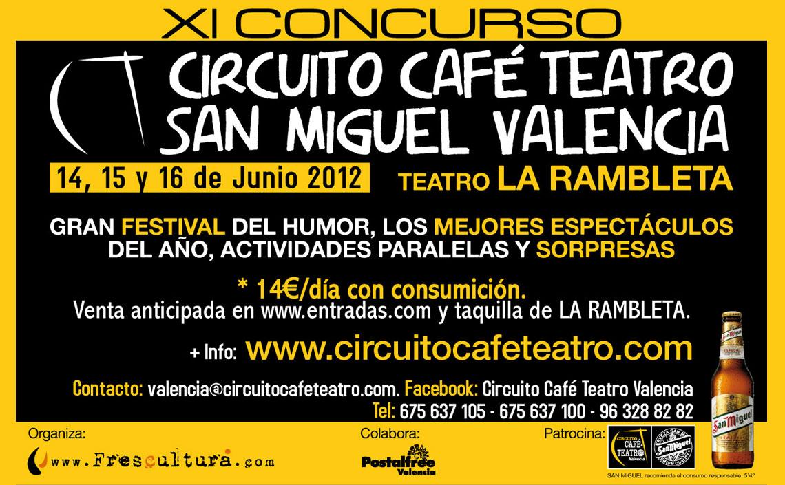 XI Concurso Circuito Café Teatro Valencia 2012