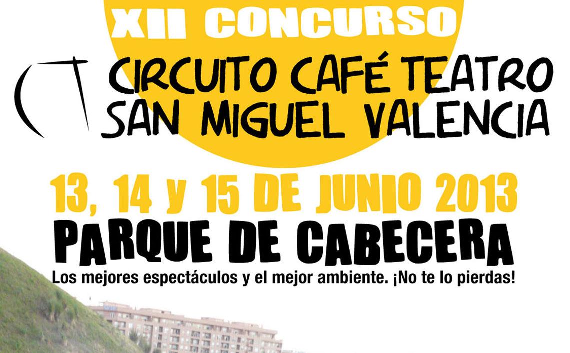 XII Concurso Circuito Café Teatro 2013