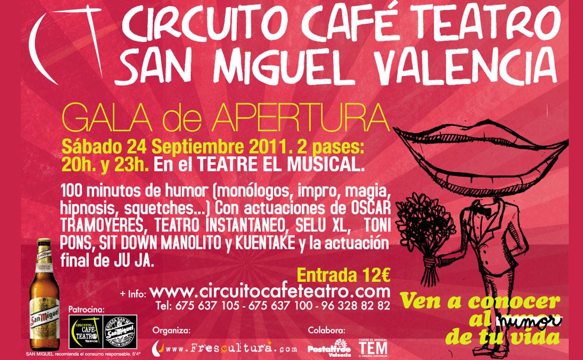 XI Gala de Humor Circuito Café Teatro Valencia 2011