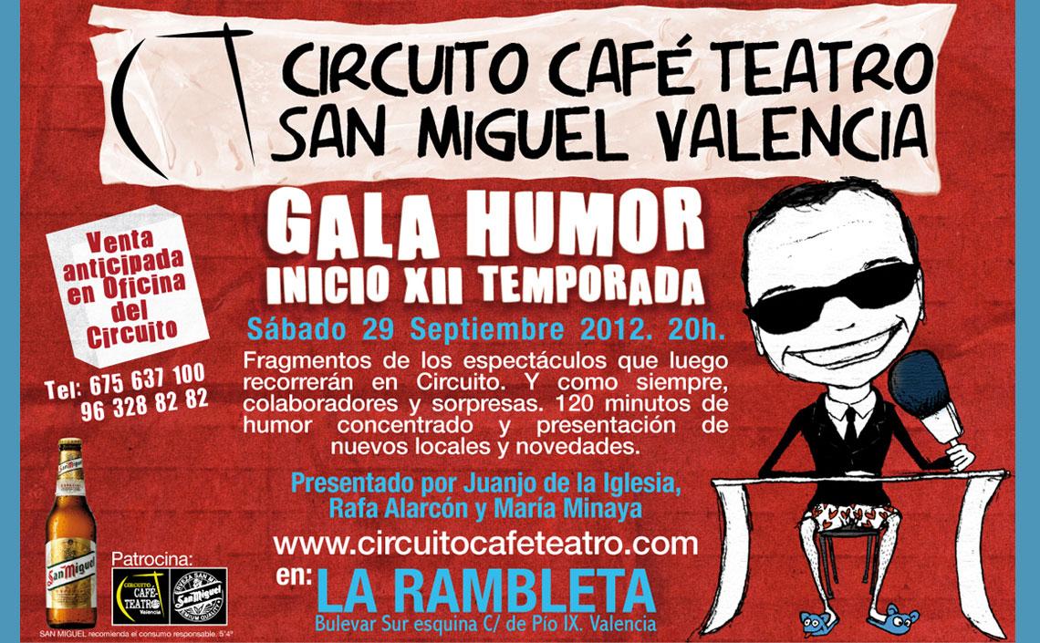 XII Gala de Humor Circuito Café Teatro Valencia 2012
