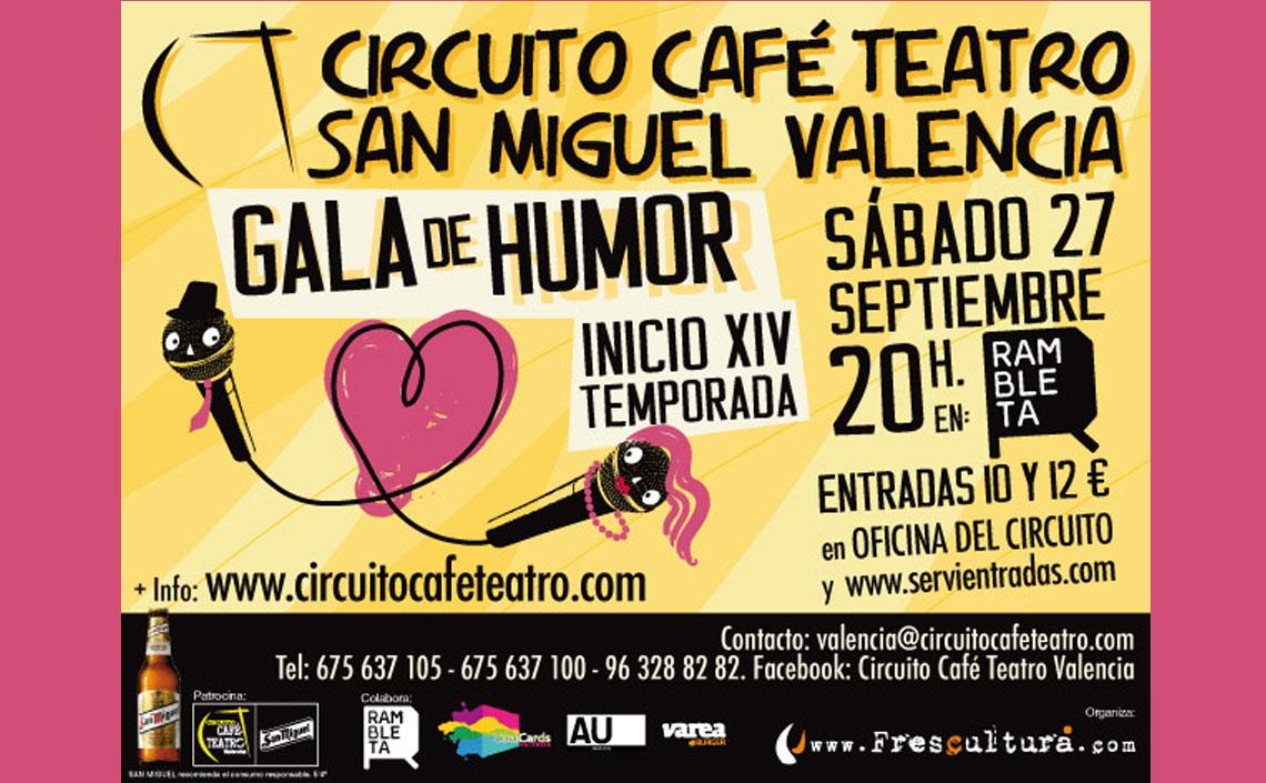 XIV Gala de Humor Circuito Café Teatro San Miguel Valencia