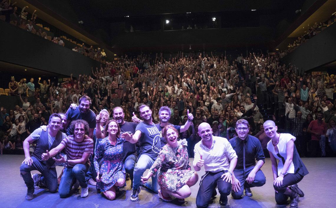 La Rambleta, al completo! XVI Gala de Humor Circuito Café Teatro.